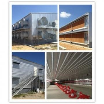 whole low cost prefab steel broiler/layer poultry farm shed factory in china