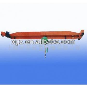 Single girder workshop overhead crane with E-hoist
