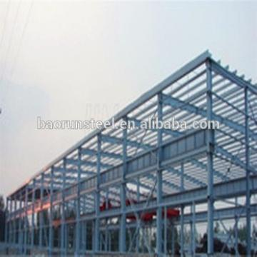 Prefab light steel warehouse metallic roof structure