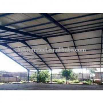 Steel frame and PU sandwich panel fabrication prefabricated steel structure warehouse