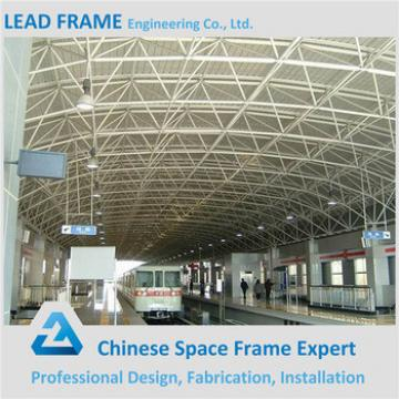 China Prefabricated Long Span Space Frame Strucuture Waiting Station Steel Roof Trusses