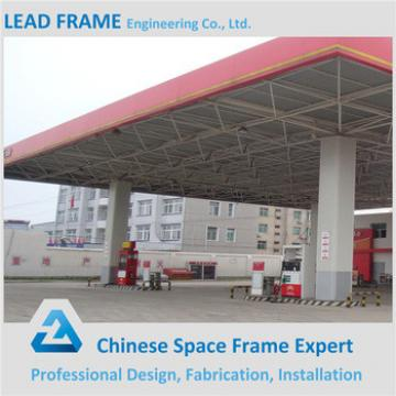 Light Prefab Space Grid Steel Frame Gas Filling Station With SGS Test