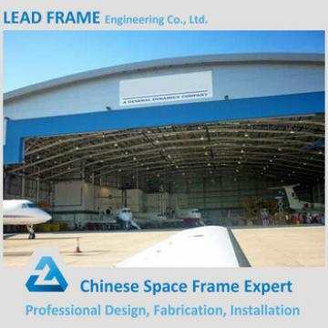 Light weight prefabricated steel structure airplane hangar with dome roof
