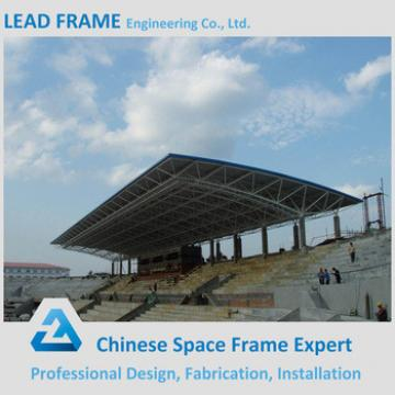 Prefab space frame steel roofing for metal bleacher cover