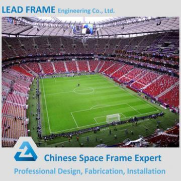 galvanized cheap curved roof stadium