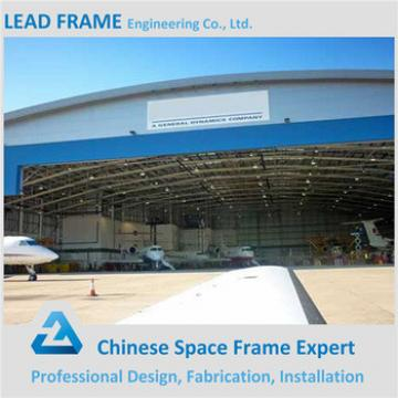 windproof durable galvanized steel space frame prefabricated arched hangar