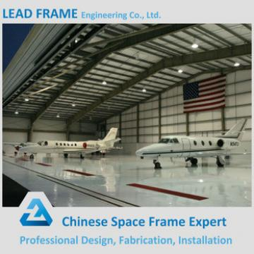 Steel construction space frame roof structure aircraft hangar