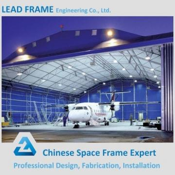 Long Span Prefab steel structure space frame arch airplane hangar