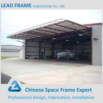 Long span steel frame for aircraft hangar