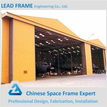 customized light steel structure type prefabricated arched hangar