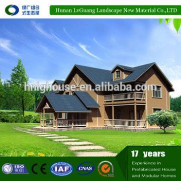 Economical two-storey wooden villa Luxury Design Light steel frame prefab house