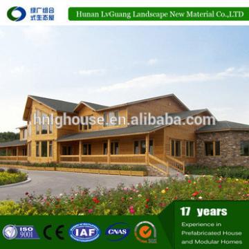 China log cabins prefab house/luxur prefabricated villa design