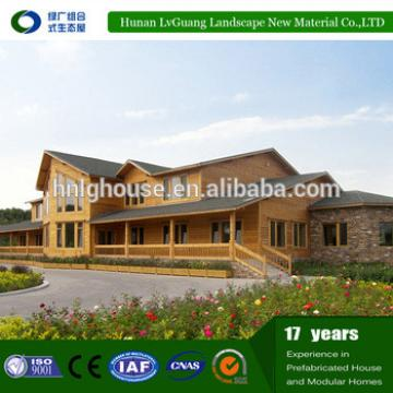 low cost prefabricated wooden villa house lowe price for sell