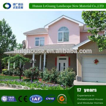 Long life residential house town houses prefab steel frame house villa
