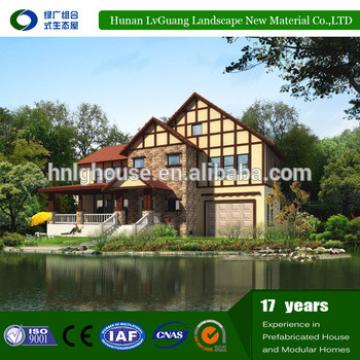 2016 hunan lvguang brand low price green prefabricated house by eps cement sandwich panel