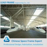 Prefabricated steel structure space frame for train station