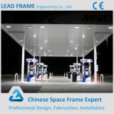 fast installation hot dip galvanized steel gas station space frame