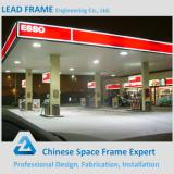 Low cost prefabricated space frame petrol station from China