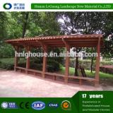 Factory direct gazebo wood with wpc manufacture