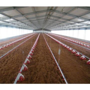 high quality modern discount chicken house/poultry house/steel structure poultry farm manufacturer in China