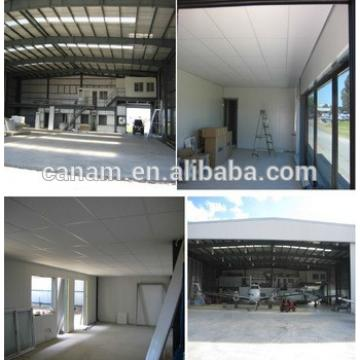 Pre Engineered small steel structure hangar prefab warehouse