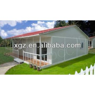 Slop roof steel frame prefabricated residential house