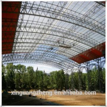 Prefab steel structure stadium/football feild turnkey project