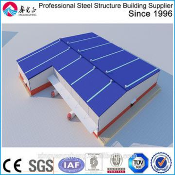 Irregular shape H steel structure L shape warehouse