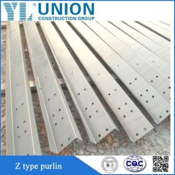 factory price hot dip galvanized steel z channel,z purlin sizes