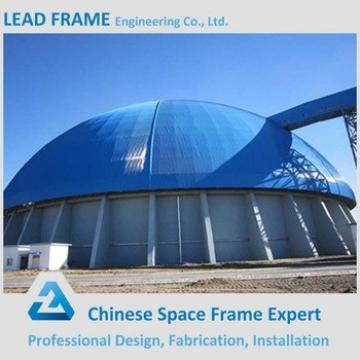 Anti-seismic Performance Steel Space Frame Structure Prefab Dome Coal Storage Shed