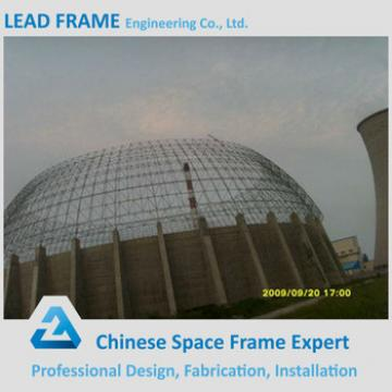 economical price steel space frame structure prefabricated dome roof