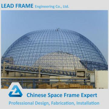 Prefabricated large span steel space frame