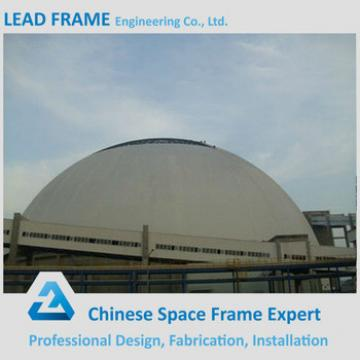 Lightweight steel dome space frame for coal storage