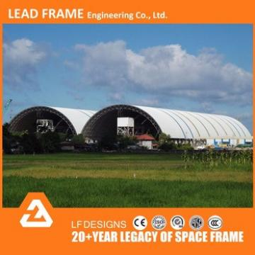 Hot Dip Galvanized Steel Space Frame Roofing Dry Coal Shed Building