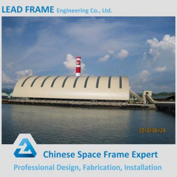 Aesthetic Steel Space Frame Coal Storage For Power Plant