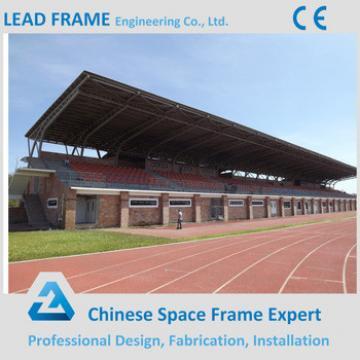 Prefab space truss roof stadium steel bleachers