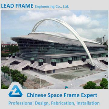 Galvanized steel space frame dome stadium roof