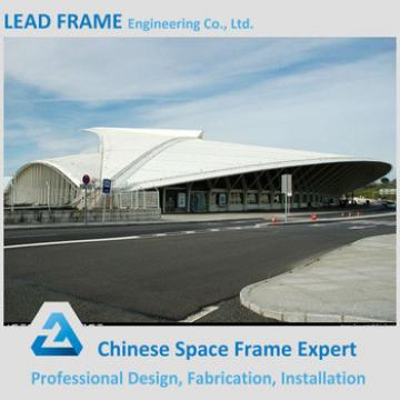 Customized prefabricated steel structure sport hall with roof structure