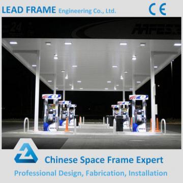 fast installation hot dip galvanized steel gas station space frame