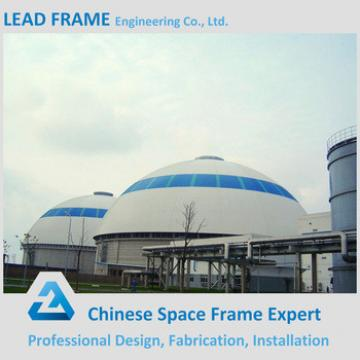 Light steel space frame roofing in building construction