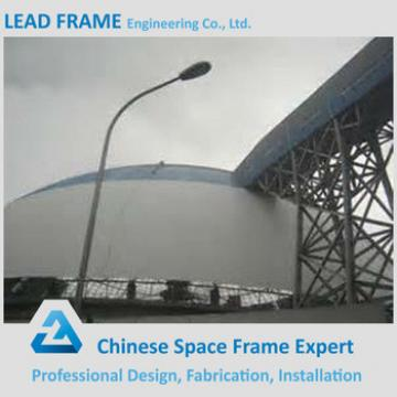 Prefabricated long span dome space frame for steel building shed