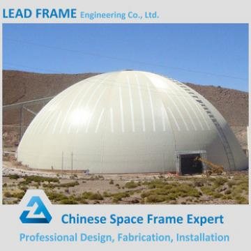 Long span waterproof space frame design for coal storage