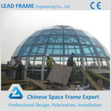 Customized Light Steel Truss Space Frame Structral Building Glass Dome