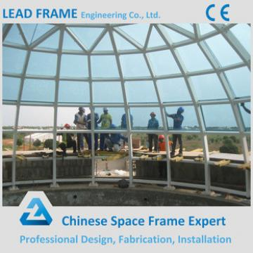 Lightweight Steel Frame Roof Tempered Glass Dome With Low Price