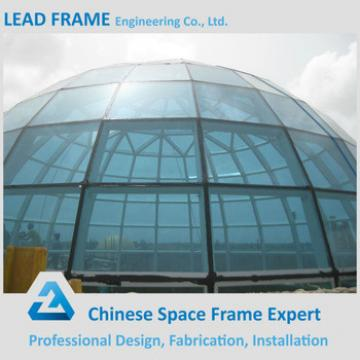 Good quality steel frame structure glass dome cover