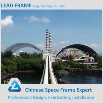 Column-free flexible floor space frame steel truss