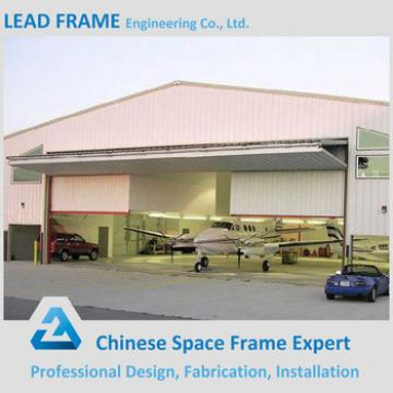 Prefab space frame arch hangar for plane