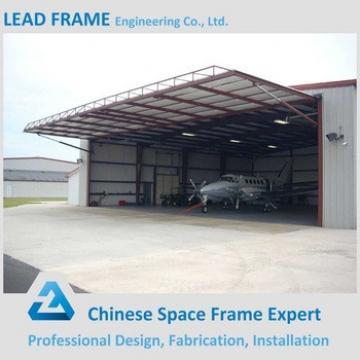 Space frame prefabricated aircraft hangar