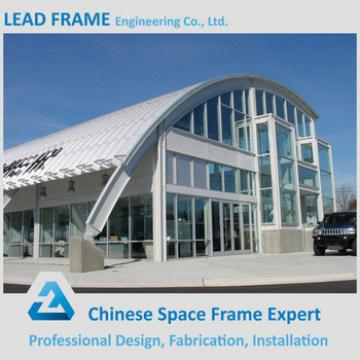 high standard prefabricated steel structure space frame arched roof truss