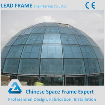 Steel space frame trusses glass office building